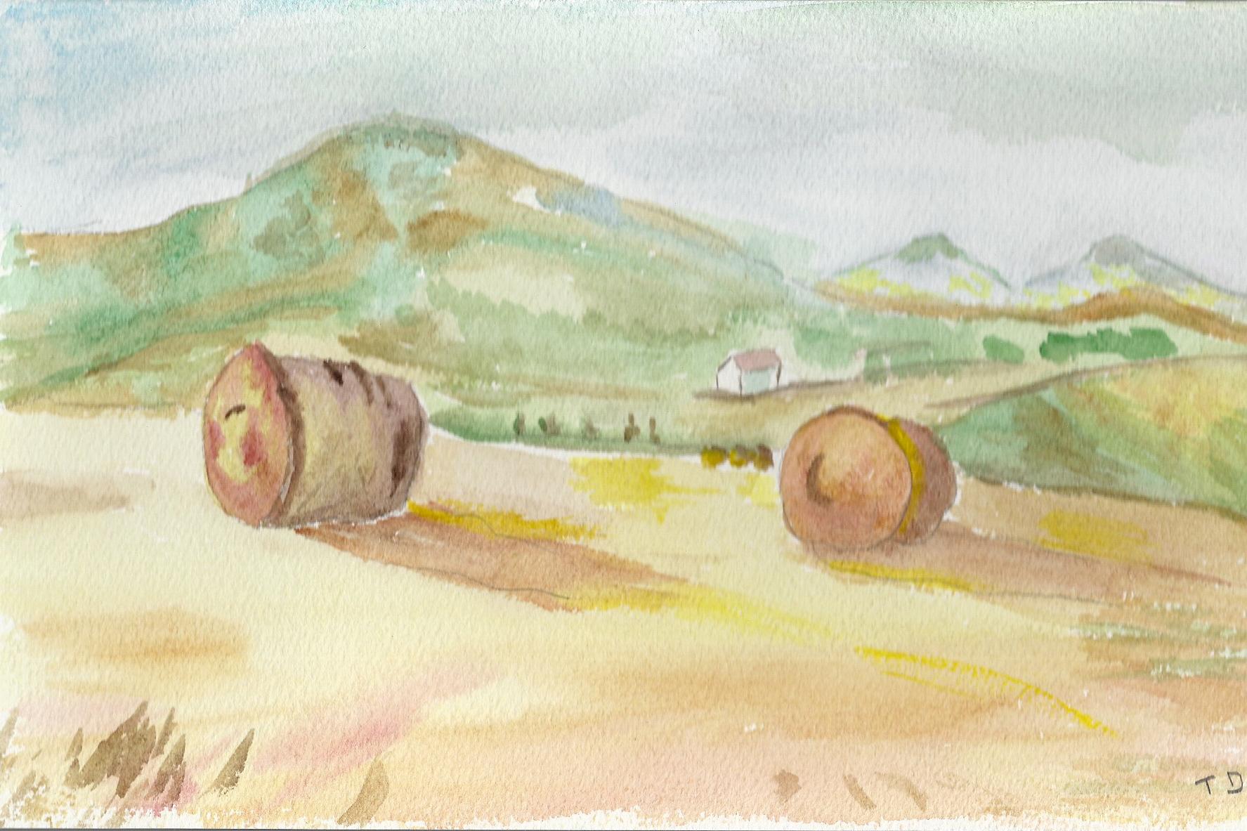 Bevorzugt paysage basque · l'aquarelle, ma passion RW85